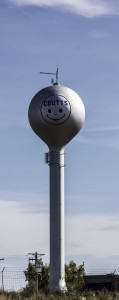 Happy Face on the water tower