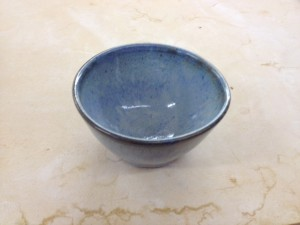 Small light blue bowl.