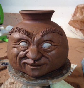 Front view of Face Vase
