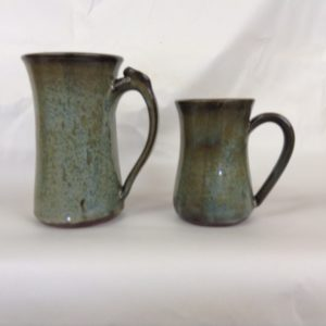 Mugs for hot and cold beverages.